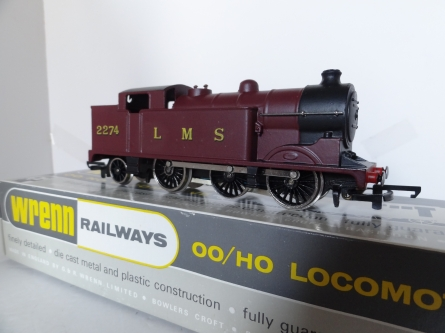 Wrenn W2214 N2 0-6-2 Tank Locomotive - LMS Maroon - Rare - Early P4 Issue