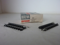 "Wrenn ""N"" Gauge Cat No 502 - Third Straight Track - 12 Pieces - RARE"