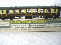 "Wrenn W6001.A ""Car No 87"" Pullman Brown/Cream Coach - WT - Rare"