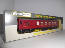 W6009 Pullman Brake 2nd Class Coach - LMS Red