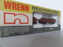 "Wrenn ""N"" Gauge No 404 ""German Railways"" Coal Wagons (2) - Brown"