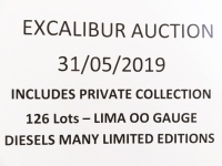 Excalibur Auction 31/5/2019 - AT 14.00 hrs - LIMA DIESELS - ELECTRIC DIESELS - 126 Lots